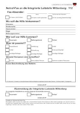 Notruf Fax ILS WB beschreibbar thumbnail