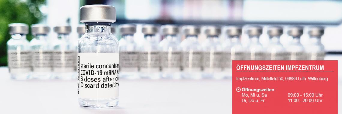 Impfen ohne Termin im Impfzentrum, Mittelfeld 50, Lutherstadt Wittenberg ©Landkreis Wittenberg
