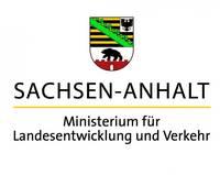 Logo des Fördermittelgebers Ministerium für Landesentwicklung und Verkehr des Landes Sachsen-Anhalt