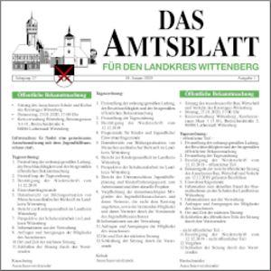 Amtsblatt für den Landkreis Wittenberg