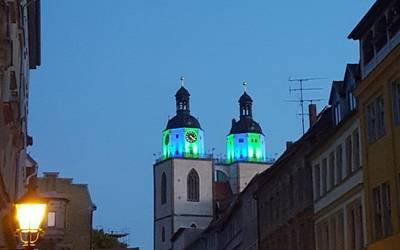 Nacht der Lichter in der Innenstadt